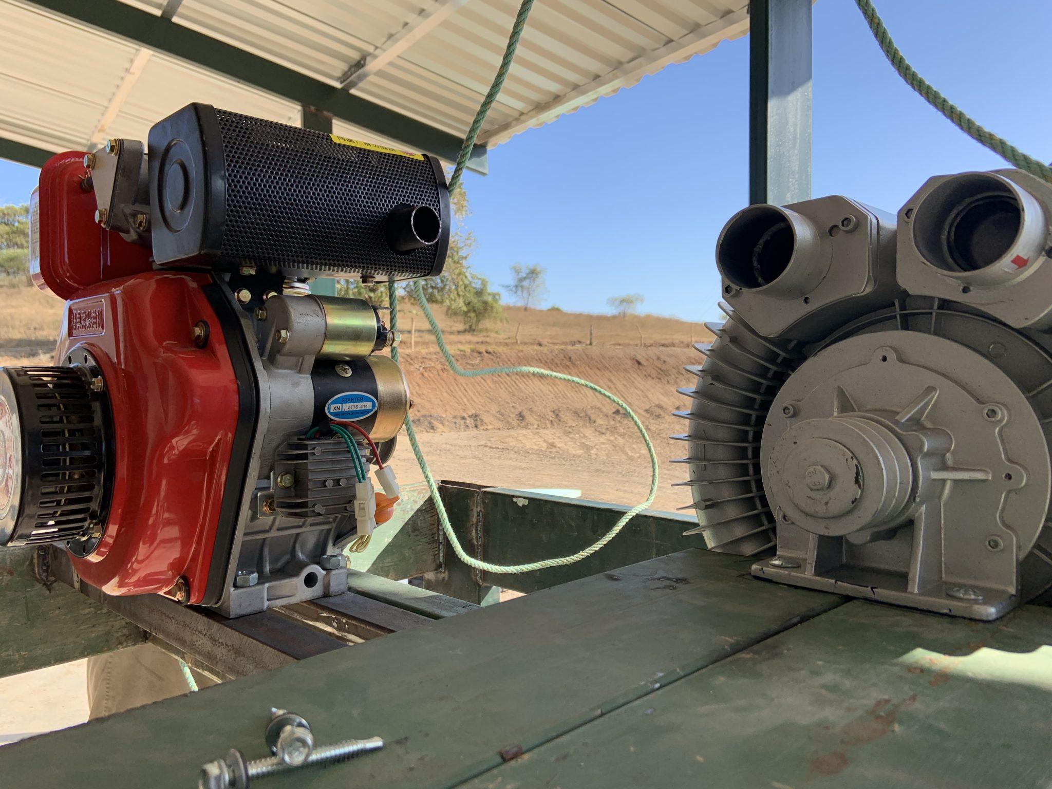 Aireador soplador y difusor para acuicultura simbiótica