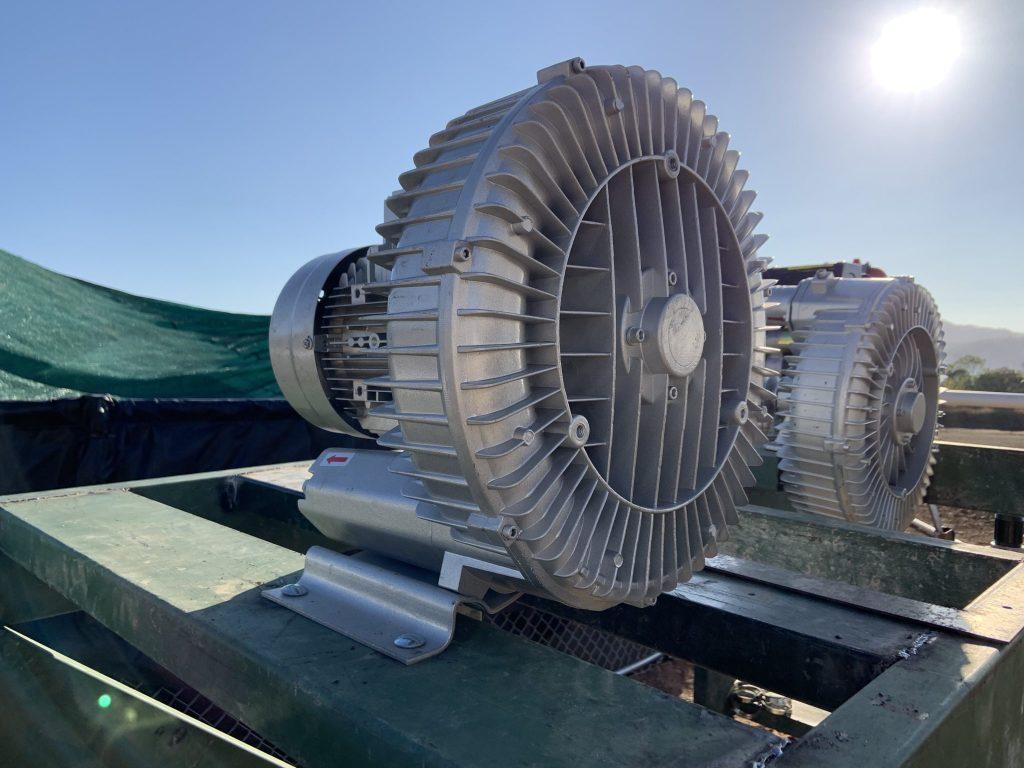 Aireador soplador para cultivo en biofloc