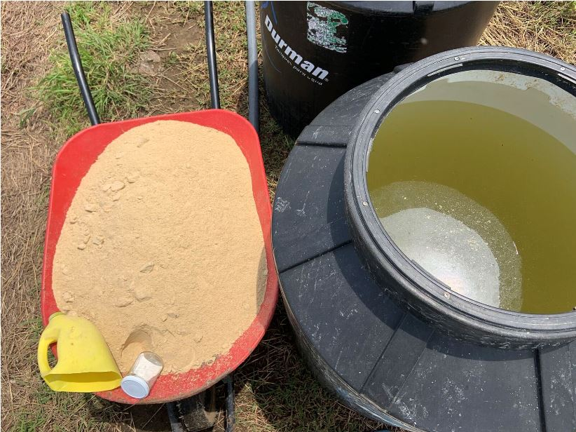 Ingredientes para fermento de salvado de arroz